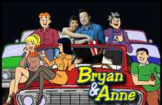 Archie-Inspired Engagement Photos - The Bryan + Anne Cinematic E-Pictorial Series is Cartoonish