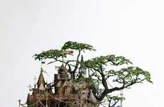 Bonsai Treehouse Sculptures
