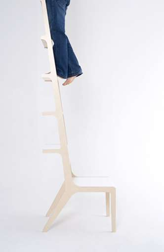Ladder-Like Seats - Seung Yong Song Creates Space-Saving Design Solutions