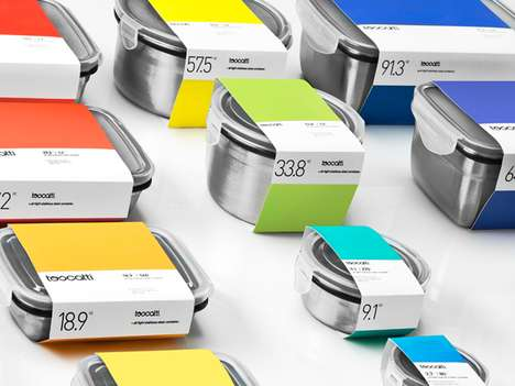 The Toscatti Packaging is Categorized by Color for Customer Convenience