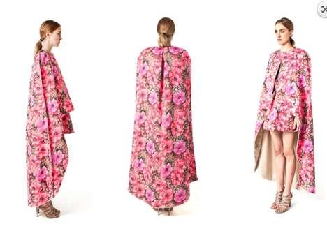 Draped Floral Fashion