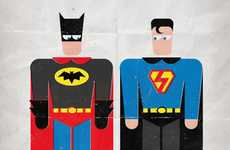 Swapped Costume Superheroes - Goenetix Mixes up Comic Apparel in 'Bad Laundry Day' Series