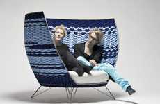 Traditionally Weaved Seating - Ola Gillgren's Big Basket Chair is Large and Comfy