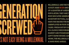 Doomed Millennial Infographics - 'Generation Screwed' Outlines Ominous Unemployment Rates