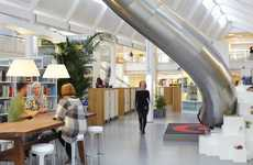 Imaginative Recreational Workspaces - The LEGO Denmark Office Has a Slide and Building Stations