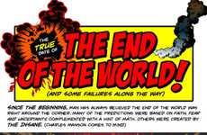 Illustrated Apocalypse Predictions - 'The End of the World' Infographic Forecasts the Earth's Fate