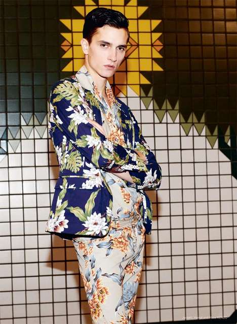 Birds of Paradise Editorials - Thomas Lohr for Achtung Magazine Embraces Bold Prints