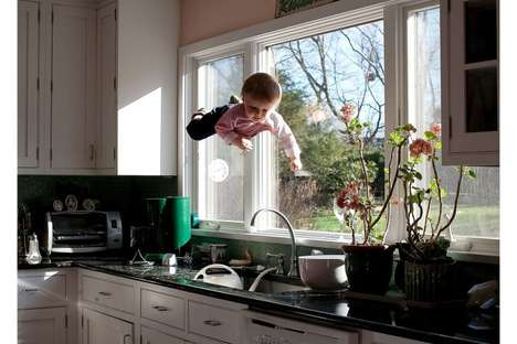 Flying Baby Photography - Rachel Hulin Mysteriously Captures Little Henry in Mid-Air