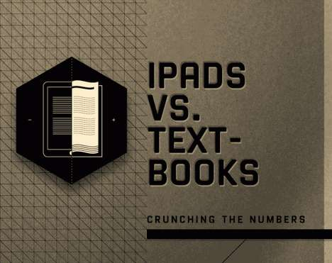 Costly Educational Upgrade Stats - The 'iPads vs. Textbooks' Infographic Analyzes Apple's Plan