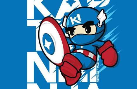Ninjafied Comic Characters