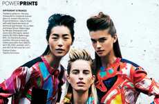 Quixotically Patterned Editorials - Vision Quest by Peter Lindbergh for Vogue Us
