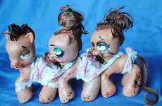 Gruesomely Attached Dolls - The My Little Pony Centipede is Shockingly Sickening