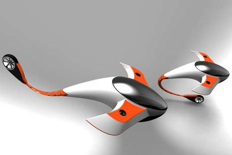Shark-Inspired Futuristic Flyers