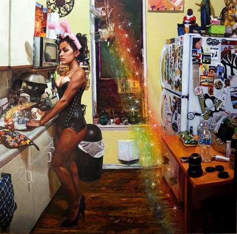 Radical Rainbow Paintings