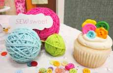 Sewing Circle Sweets - These Button Cupcakes Are a Tasty Tribute to Seamstresses Everywhere