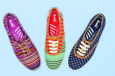 Striped Boho Sneakers