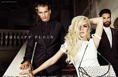 Seductive Starlet Ads - The Lindsay Lohan Philipp Plein Spring/Summer Campaign is White-Hot
