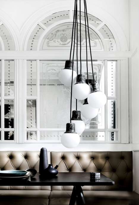 Clustered Marble Lamps