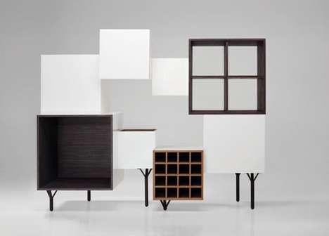 Boxy Bush-Like Furniture