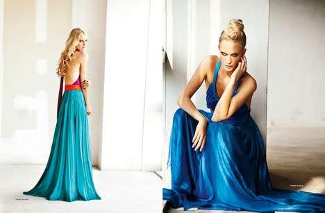 Draping Colorblocked Fashion