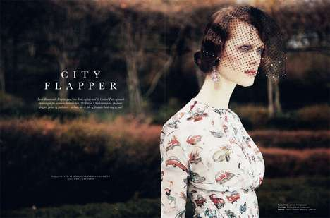 Ilva Heitmann Stars in a 20s-Inspired Editorial for Elle Denmark March 2012