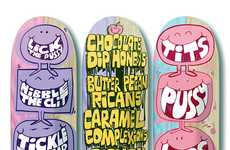 Cartoon-Clad Skateboard Decks