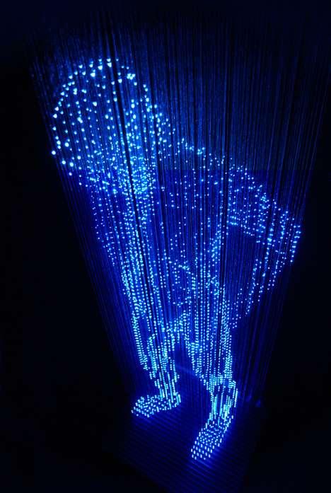 Holographic Light Sculptures