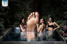 Giant Foot Ads - The Rowenta Spa For Your Feet Campaign is Surreally Relaxing