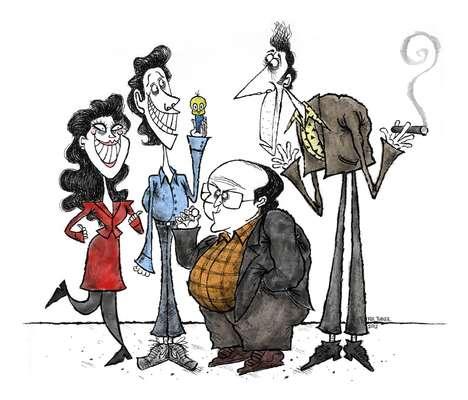 Gaunt Pop Culture Caricatures