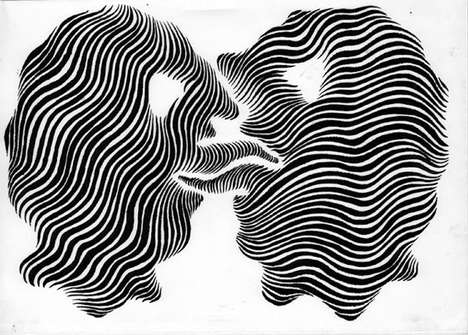 Squiggly Zebra-Print Silhouettes