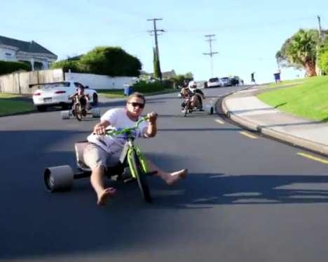 Three-Wheeled Downhill Sports