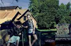 Farmstead Americana Editorials - A Ranch-Set Marie Claire Italia Shoot