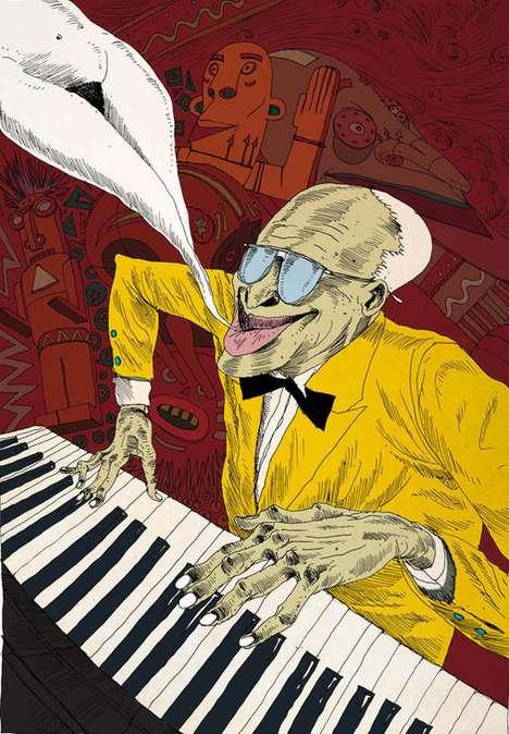 Musical Hallucinogenic Illustrations