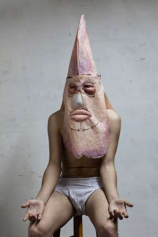 Disturbing Masked Art - Erik Bergrin's KKK HOODS Series Contemplates Disconnection
