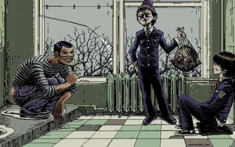 Dot-Matrix Horror Scenes