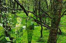 Forest-Camouflaged Statues
