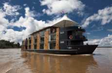 Luxury Floating Hotels - The M/V Aria Cruise Ship Travels Along the Amazon River