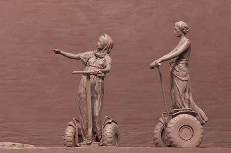 Segway-Riding Sculptures
