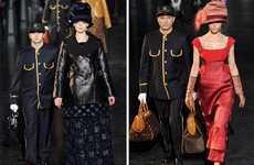 Porter-Accompanied Catwalks - The Louis Vuitton Fall Show Boasts a Travel Theme