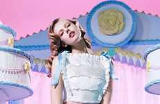 Cakeland Couture Shoots - The POP Magazine Features Frida Gustavsson