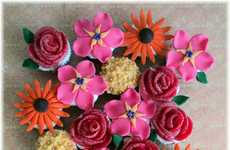 Blooming Cake Bundles - The Cupcake Bouquet is a Beautiful and Delicious Way to Welcome Spring