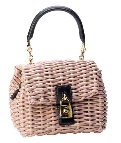Basket-Weaved Designer Bags