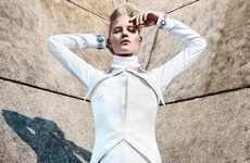 Architectural Alabaster Fashion - The Hannah Holman Gravure Magazine Editorial is Simply Structured