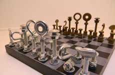 Handyman Strategy Games - The Hardware Chess Set by Rambutan Red Combines Ruggedness and Intellect