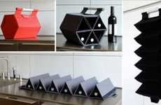 Compact Wine Racks - The ZEBag Carries and Displays Multiple Booze Bottles