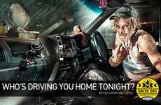 Shady Hitchhiker Ads - The Brandhouse Drive Dry Initiative Campaign Wonders Who's Driving Home