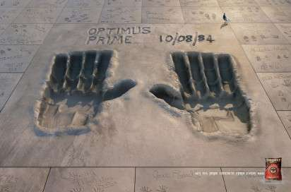 Fictionalized Handprint Ads