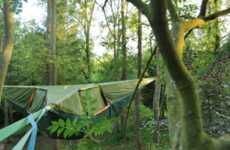 Outdoor Suspended Sleeping - The Tentsile Provides Above Ground Shelter for Campers
