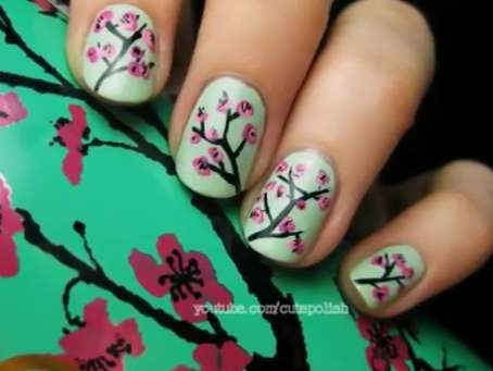 Cherry Blossom Manicures