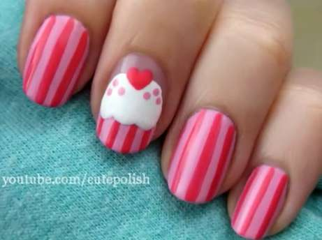 Frosted Dessert Manicures - This Cute Cupcake Nail Art by Cutepolish is Sweet Enough to Eat
